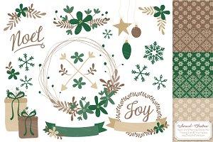 Emerald Christmas Wreath Clipart