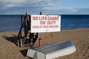 Empty Lifeguard Station on Superior