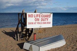 Empty Lifeguard Station on Superior
