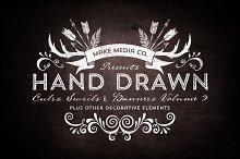 Hand Drawn Curls & Banners Vol. 3