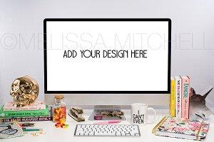 iMac Unicorn Skull Styled Mockup 109