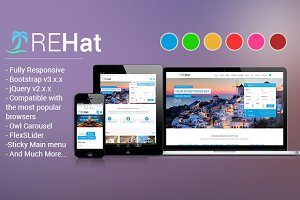 REHat - Travel Responsive Template