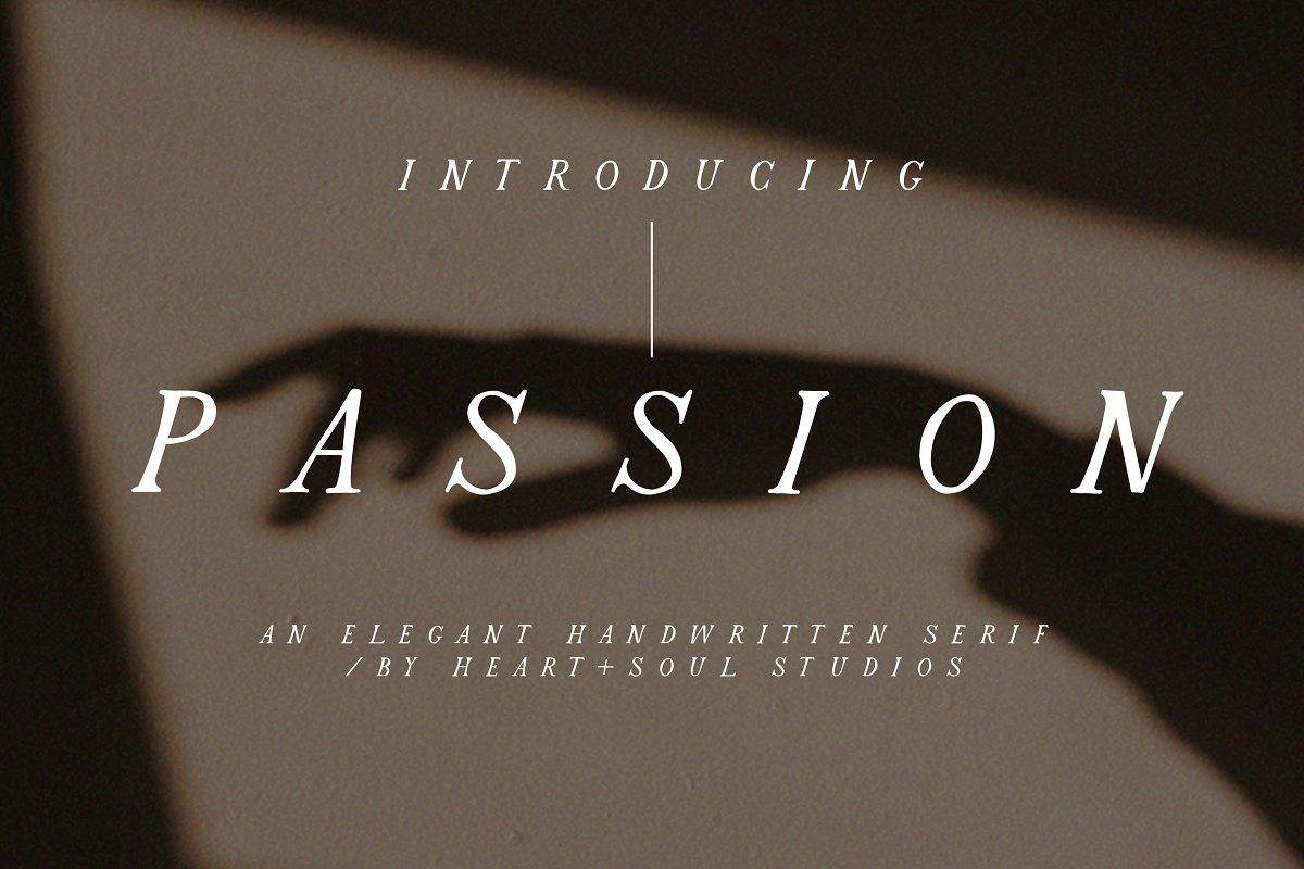 Passion | Romantic Serif