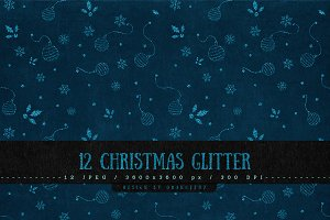 12 Christmas Glitter Backgrounds