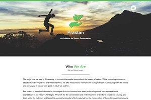 Praktan - Charity Landing Page