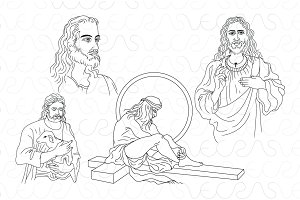 Jesus Christ Vector Illustrations