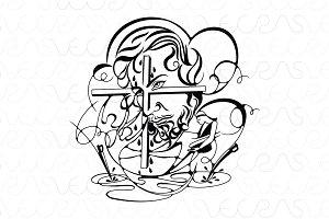 Jesus Christ Illustrative Vector