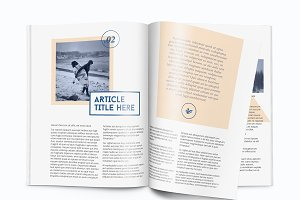 Magazine template - A4 - Indesign