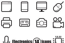 Electronics set of 14