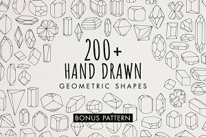 Hand Drawn Mineral Geometric Shapes