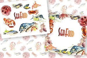 Seafood hearts and frames