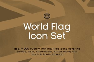 Infografica World Flag Icons