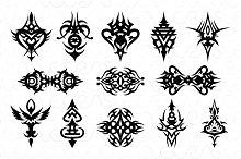 Illustartive Tribal Black Vector Set