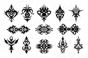 Illustartive Tribal Black Vector Set