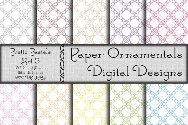 Digital Paper, Pretty Pastels 5