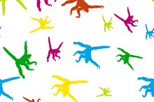 Seamless pattern monkeys