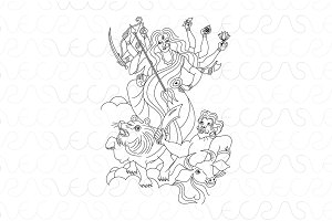 Durga Kali Indian Hindu Goddess