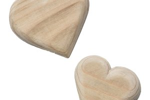 wooden hearts handmade
