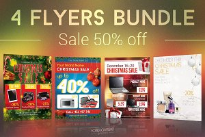 Christmas Sale Flyers Bundle