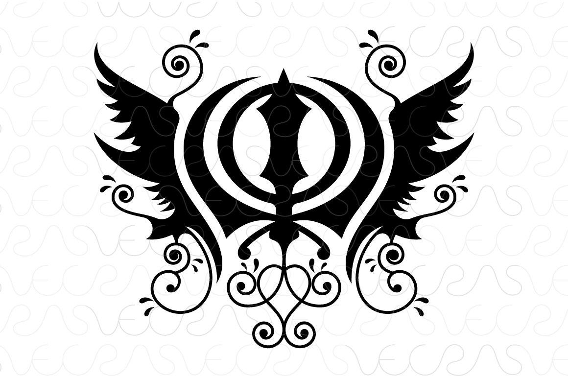 Khanda Sahib Sikhism Religious Vecto Illustrations Creative Market