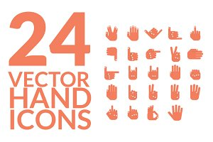 24 Hand Icon Vector