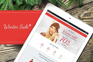 Winter Sale WordPress Theme