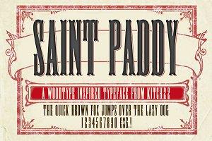 St.Paddy Woodblock Font