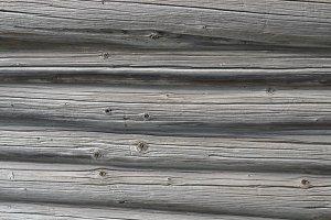 Log Wall Texture. Old Gray Wood