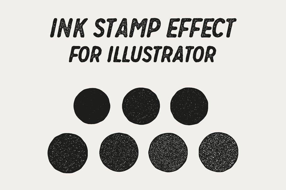 Ink Stamp Effect ~ Illustrator Add-Ons ~ Creative Market