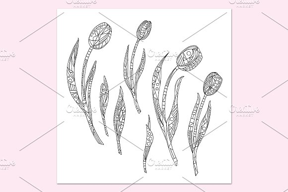 Tulips collection in Patterns - product preview 3