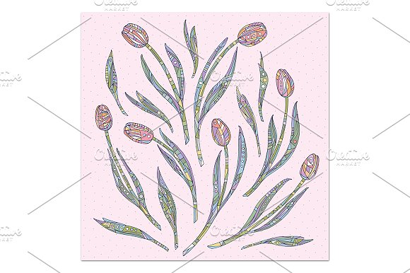 Tulips collection in Patterns - product preview 4