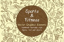 Sports and Fitness  Vector Graphic