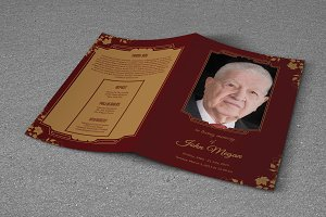 Funeral  Template   12 Pages   T258