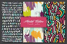 3 seamles patterns, color textures