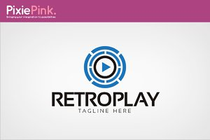 Retro Play Logo Template