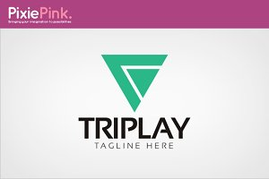 Tri Play Logo Template