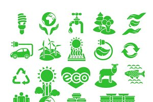 Nature Resources Ecological Icons