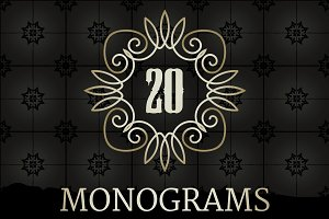 20 Elegant Monograms Collection