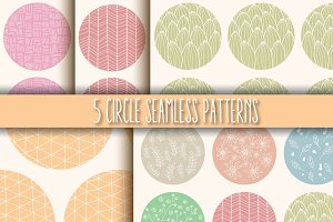 5 Circle Seamless Patterns