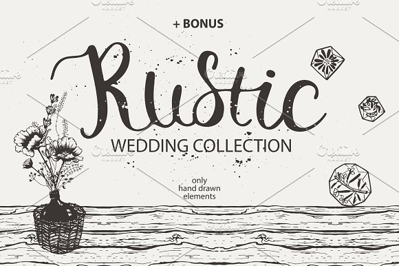 Rustic Wedding Collection Ilrations