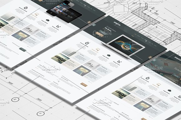Download Isometric A4 Paper Mockup