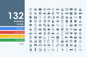 132 business icons