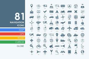 81 navigation icons