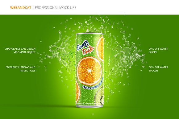 Energy Drink Can Mockup ~ Product Mockups ~ Creative Market