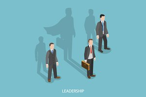 Leadership isometric concept