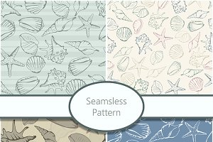 Seamless patterns with shells