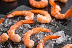 Shrimps on ice
