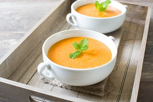 Tomato gazpacho soup. Spanish food