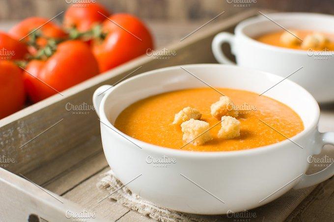 Tomato gazpacho soup. Spanish food - Food & Drink