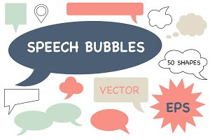 Speech bubbles - vector